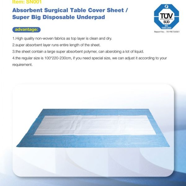 absorbent surgical table cover sheet super big disposable underpad